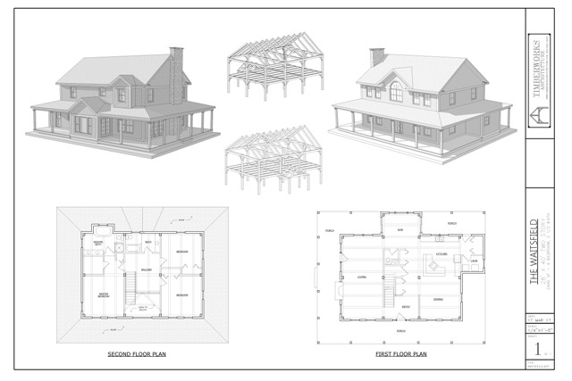 Waitsfield timber frame collage