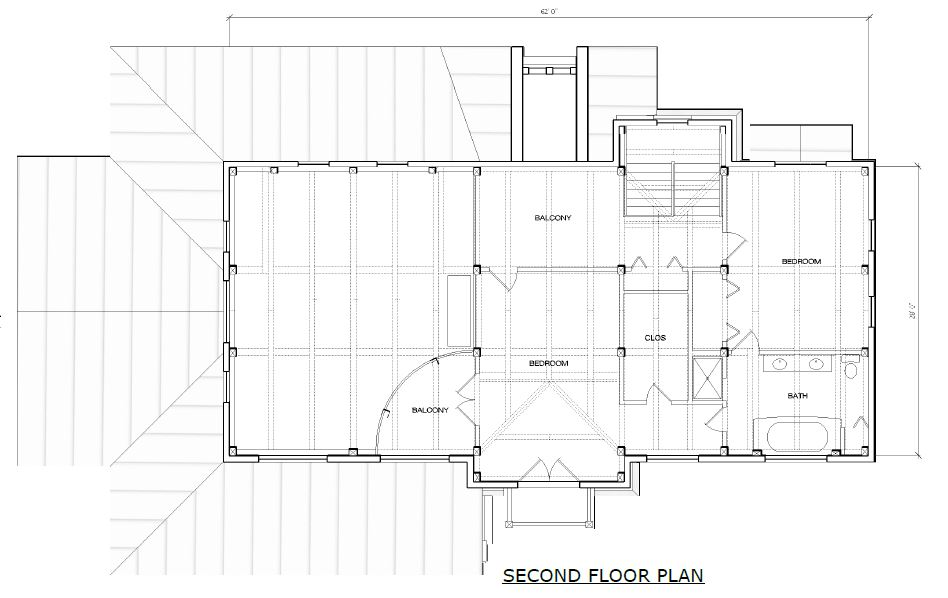 Windsor timber frame second floor plan