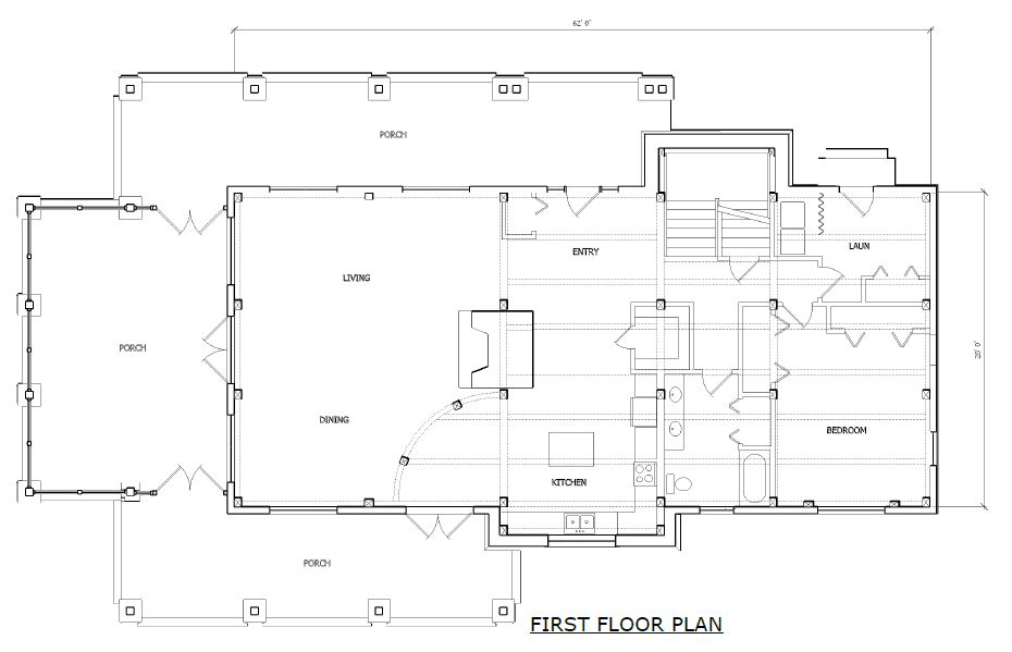 Windsor timber frame first floor plan