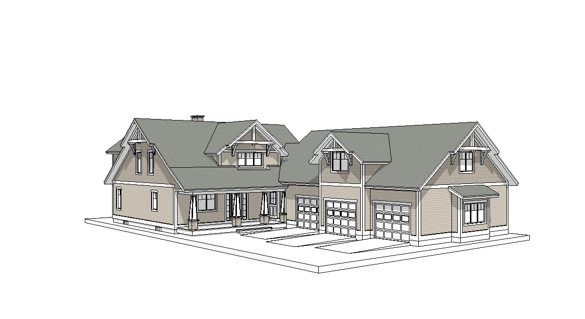 Wilmington timber frame rear elevation