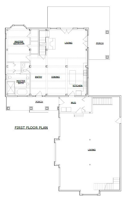Wilmington timber frame first floor plan