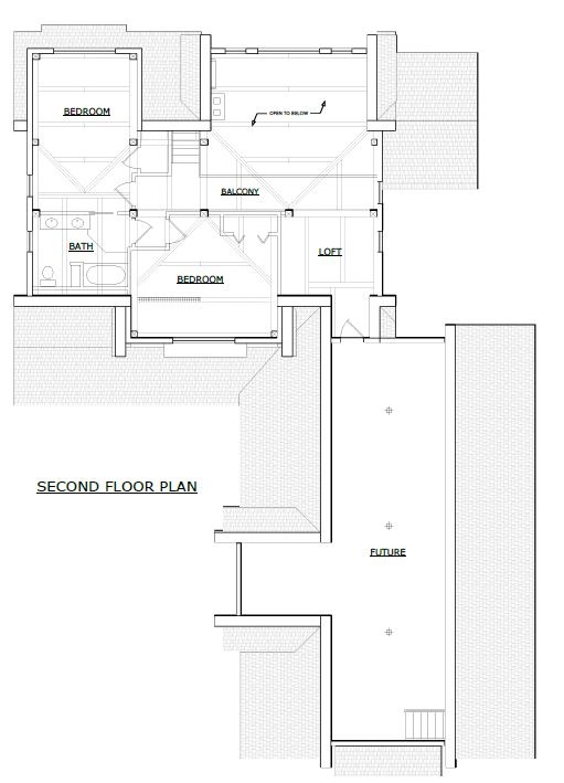 Wilmington timber frame second floor plan