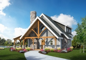 Front Elevation Clear Creek Timber Frame Design